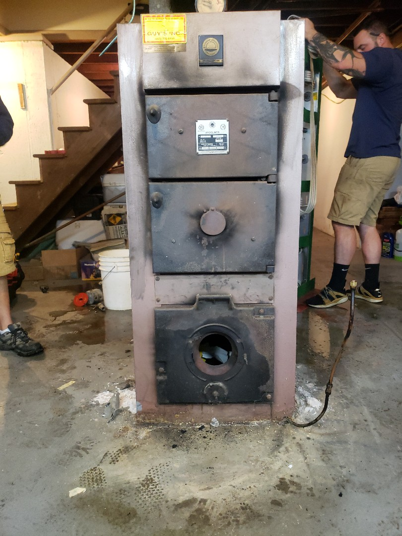 East Lyme, CT - Before new boiler install!