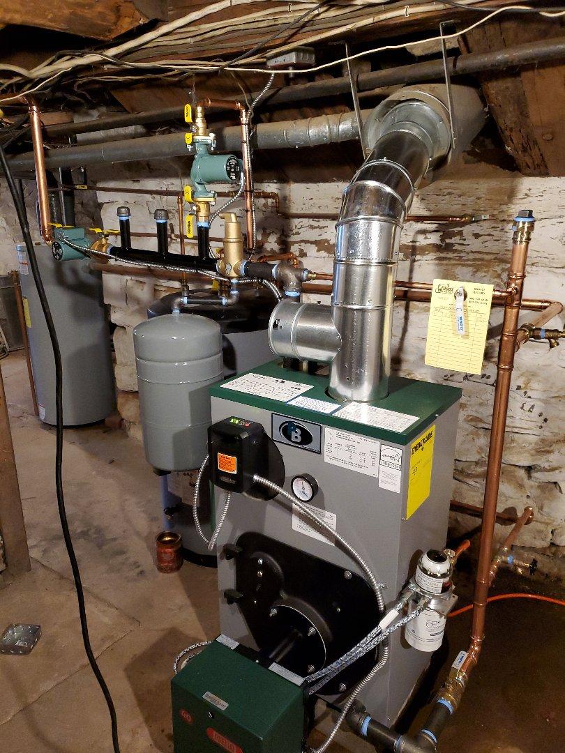 Essex, CT - New boiler installation