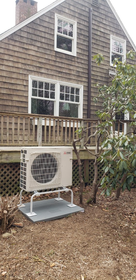 Lyme, CT - New Mitsubishi Air Conditioning with Heat pump installation.