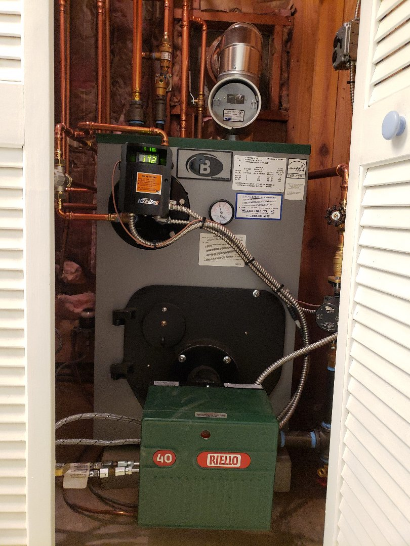 Clinton, CT - Peerless boiler annual heating tune up.