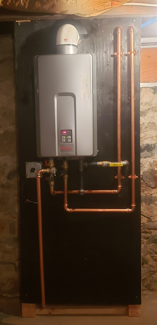 Westbrook, CT - New Trane AC install, Gas furnace and Rinnai hot water heater.