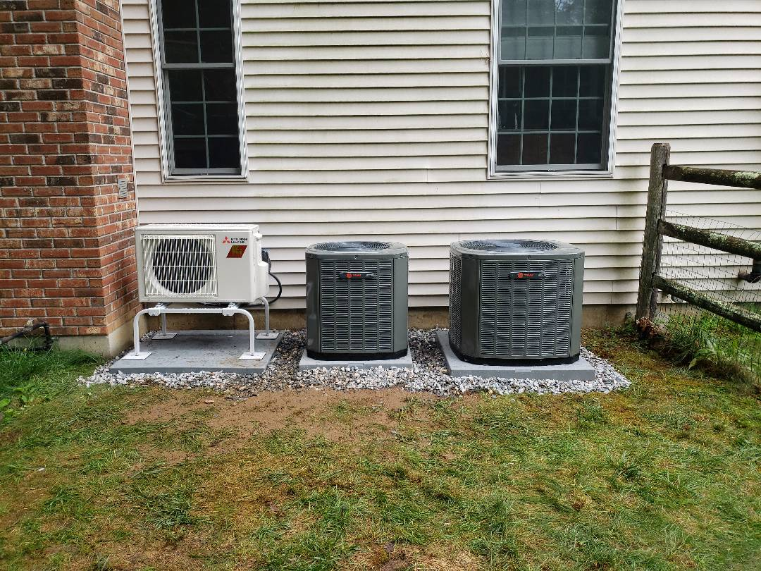 Old Lyme, CT - Installed two Trane AC units and one Mitsubishi unit.