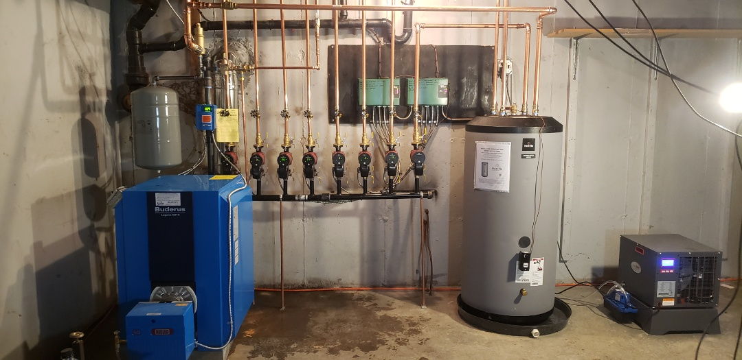 Old Lyme, CT - New Buderus Boiler with Heat Flo in-direct.