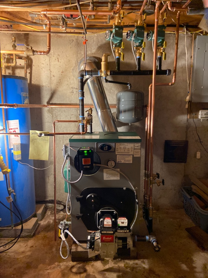 Madison, CT - Install new peerless boiler with Beckett burner