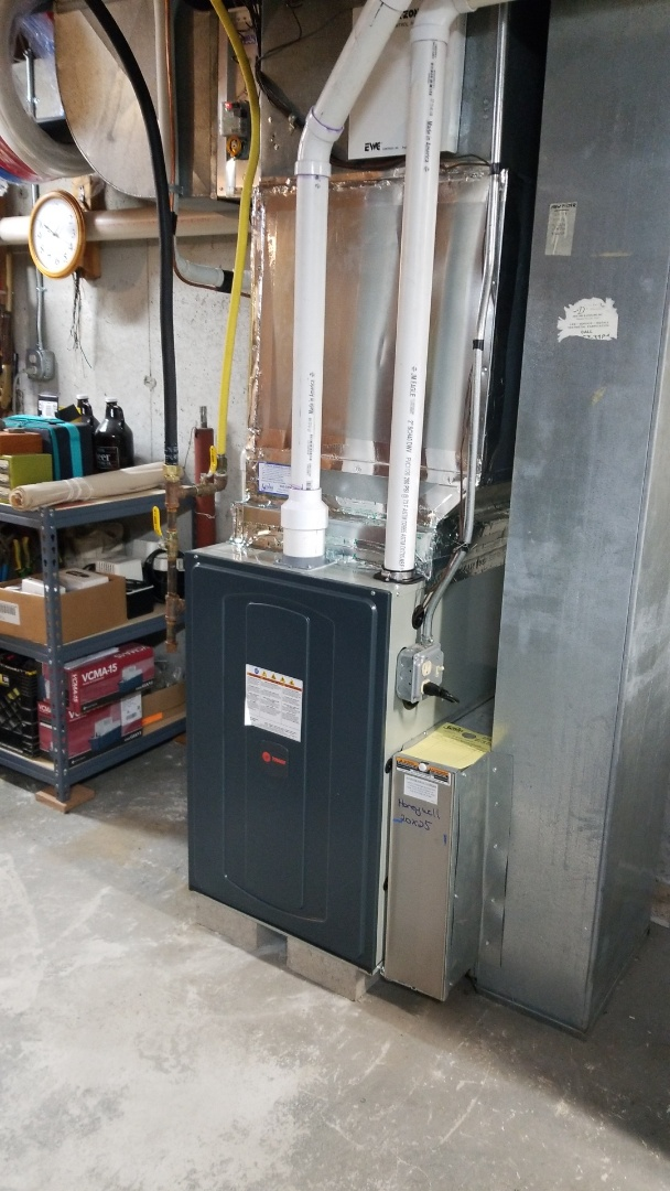Killingworth, CT - Install of Trane gas furnace and AO Smith HWH
