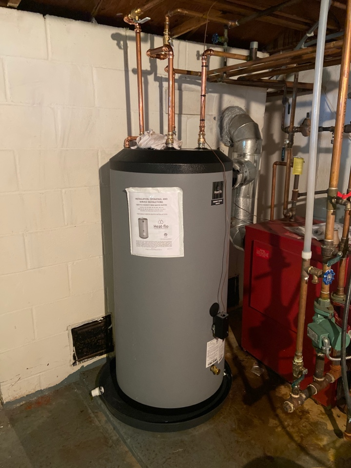 Old Saybrook, CT - Installed new 59 gallon heat flo indirect water heater in old saybrook
