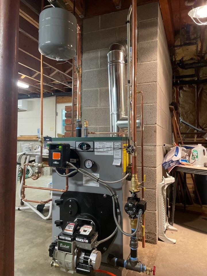 Old Lyme, CT - New peerless boiler with Beckett burner.