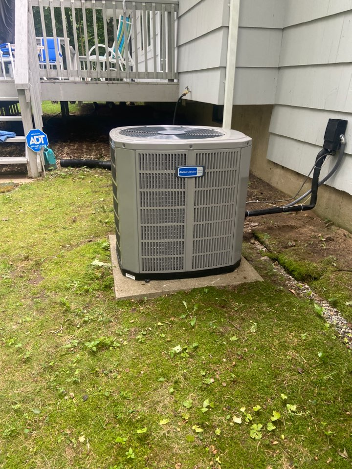 Westbrook, CT - Installed new American standard ac at customers house to get their ac running