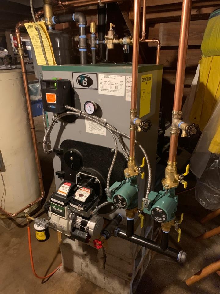 Westbrook, CT - Install of peerless boiler