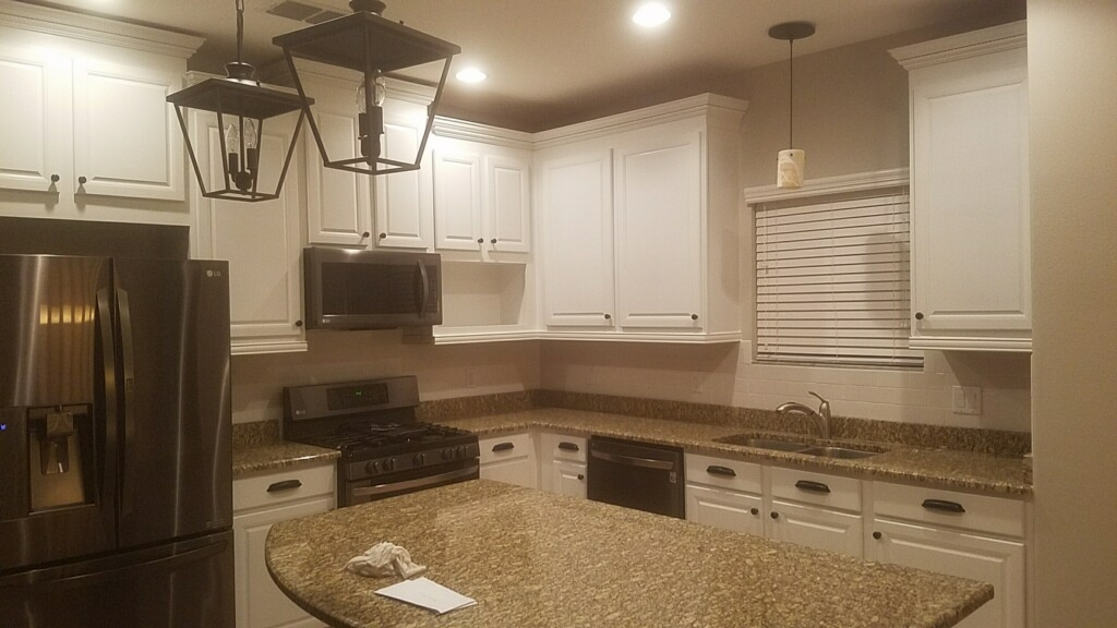 Finished these beautiful cabinets. Used kilz oil primer and 3 coats of Sherwin Williams pro classic oil base.