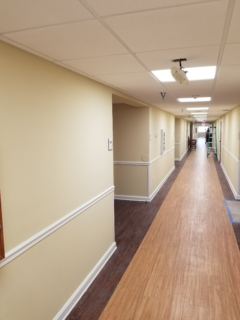 Almost done with an entire rehab of this wonderful assisted living facility