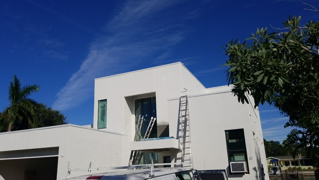 Saint Petersburg, FL - Completed this monster sized house with Sherwin Williams super paint in record time. Great job Alber