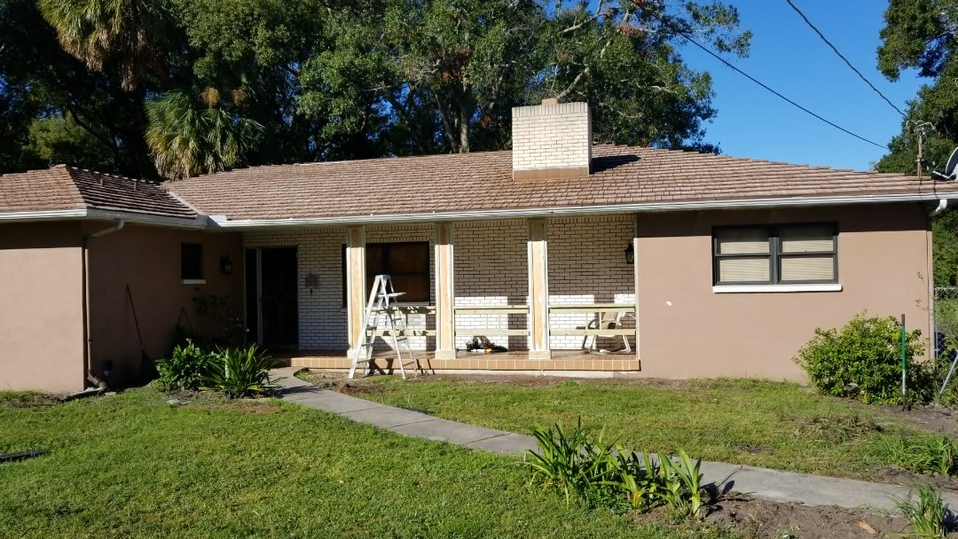 Tampa, FL - Starting transformation on this lovely ranch style home