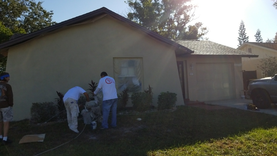 Clearwater, FL - Adding the finishing touches on this paint job done with Sherwin Williams resilience