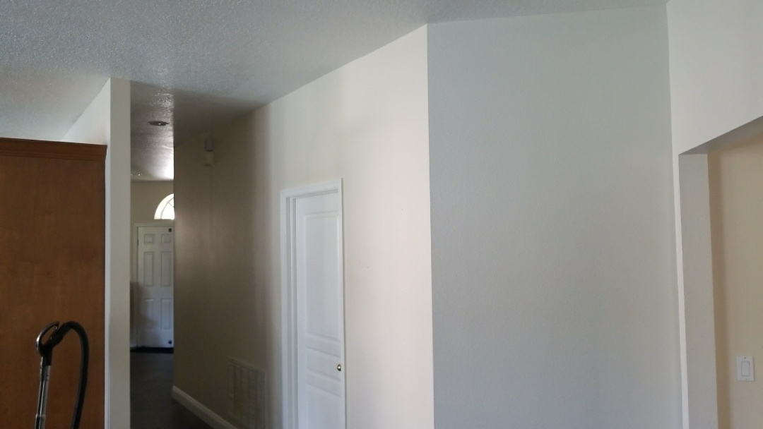 Replacing baseboards and repainting entire house. Fixing cracks in the ceiling and caulking.