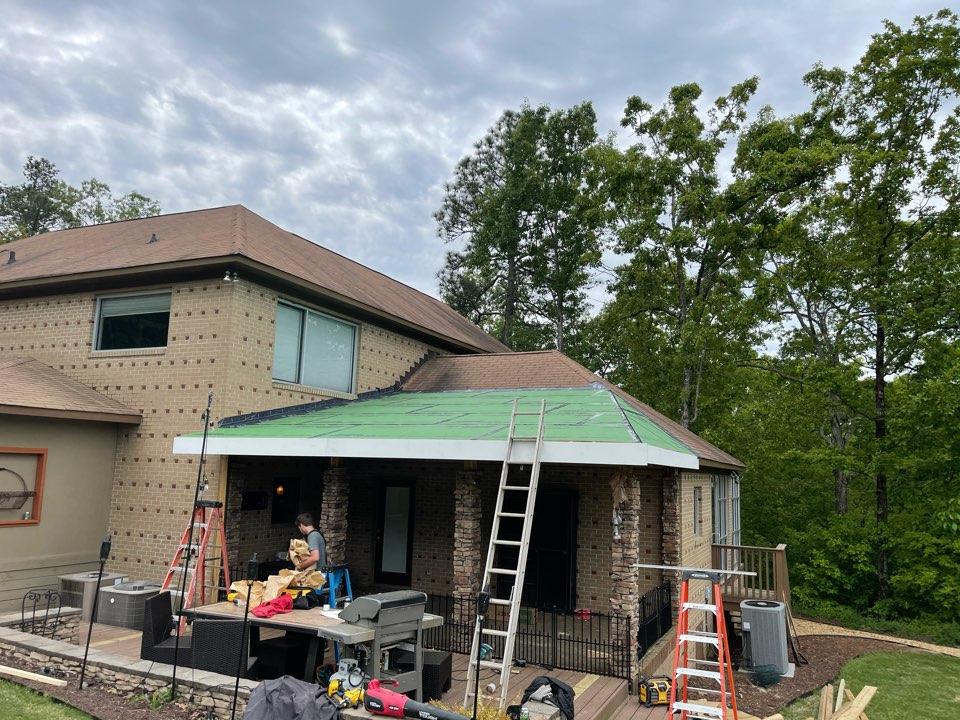 Pelham, AL - New roof system over rear porch for entertaining.