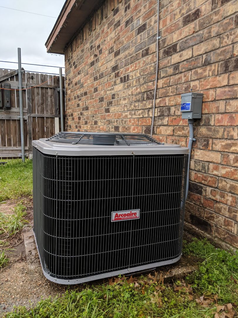 Duncanville, TX - Air conditioning checkup. Performed cooling inspection and seasonal maintenance on AC system.