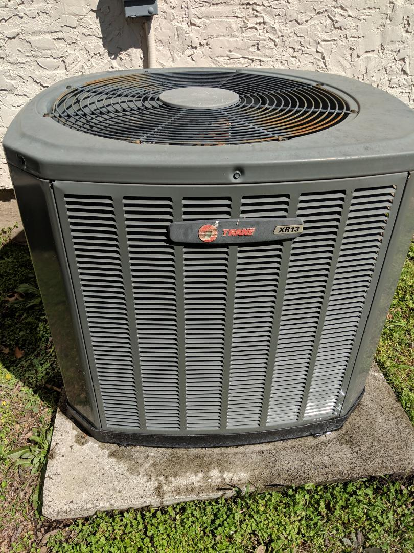 Duncanville, TX - Air conditioning spring tuneup. Performed seasonal maintenance check and repairs on Trane cooling system.