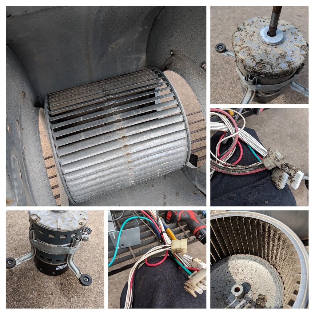 Midlothian, TX - Air conditioning maintenance and spring tune-up. Performed seasonal inspection and repairs on a Trane cooling system.