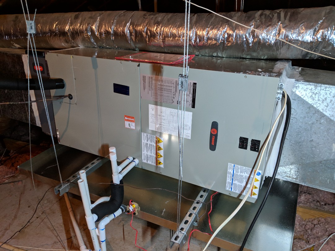 Cedar Hill, TX - Ac system replacement. Retrofit replacement of entire air condition and heat pump system.