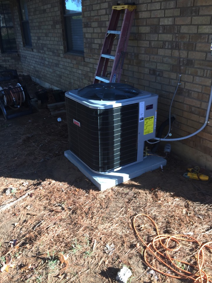 Mansfield, TX - AC and heater service call repair. Installed new system in Mansfield TX