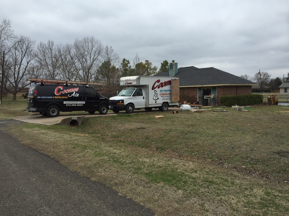 Red Oak, TX - Heater service call repair, replacing an AC and heating system in Red Oak, TX