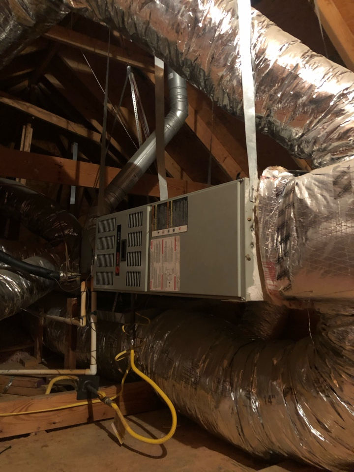 Grand Prairie, TX - Heating tuneup and gas furnace safety inspection.