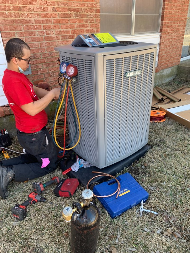 Duncanville, TX - Heating service call repair, install new heat pump