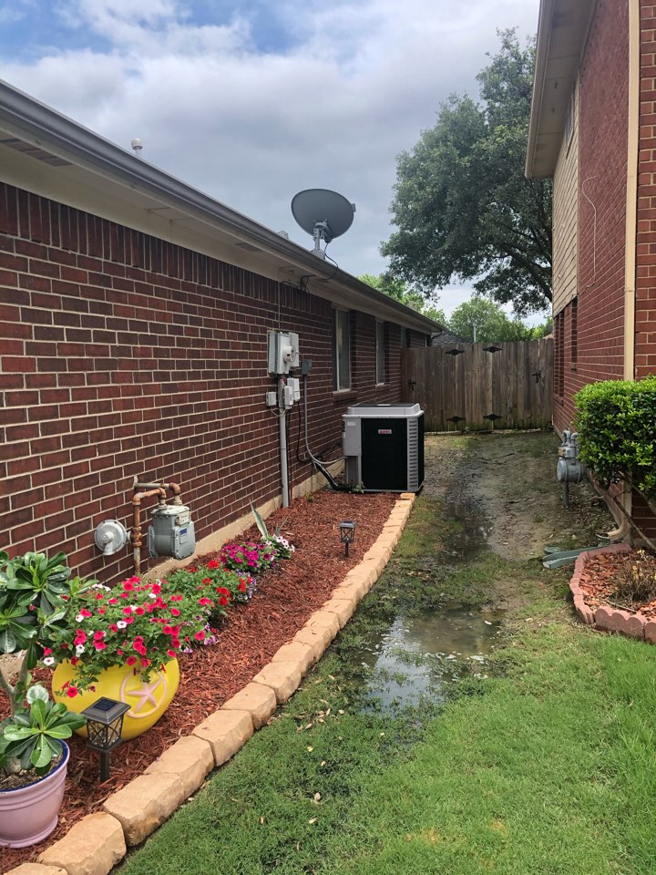 Grand Prairie, TX - Air conditioning tuneup and spring maintenance service inspection of ac system.
