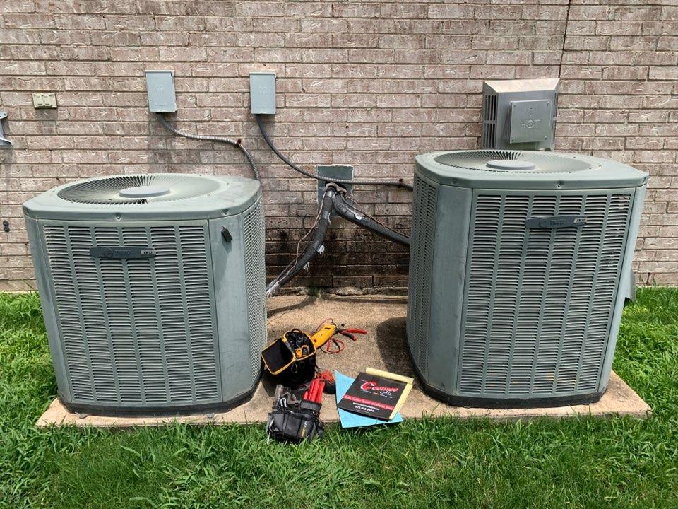 DeSoto, TX - AC service call repair on Trane air conditioner
