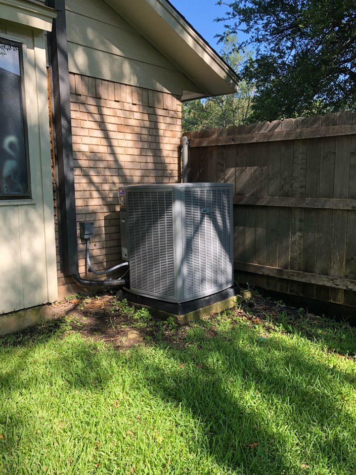 Duncanville, TX - Air conditioning system replacement. Completed retrofit of High efficiency multi speed system with Zoning.