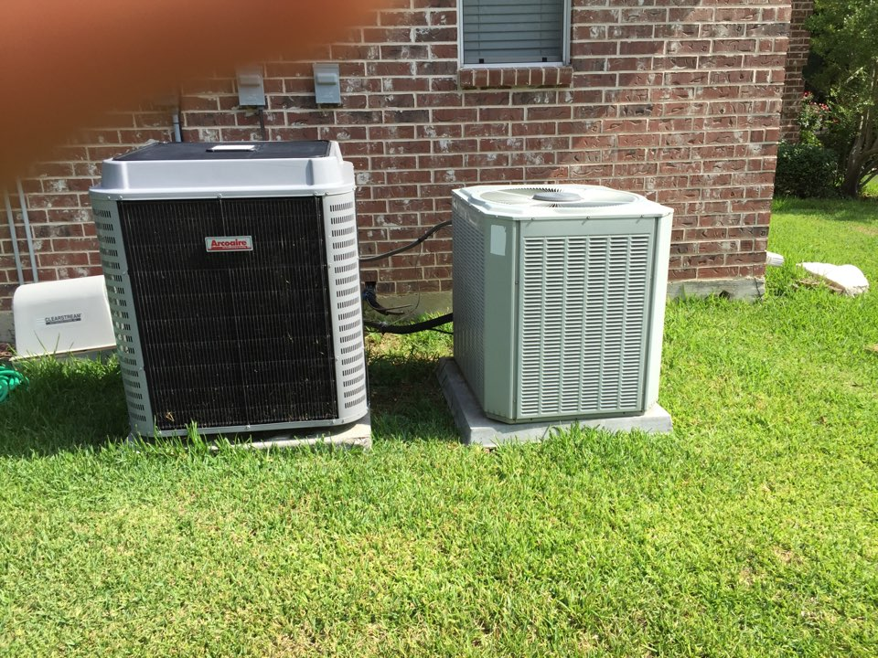 Fort Worth, TX - Air conditioner service call repair, replacing a motor on a Trane AC unit in Ft worth, TX