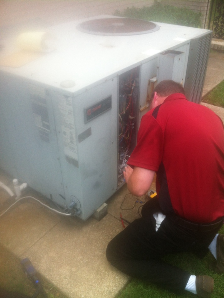 Red Oak, TX - Air Conditioning repair on a Trane system in Red Oak TX