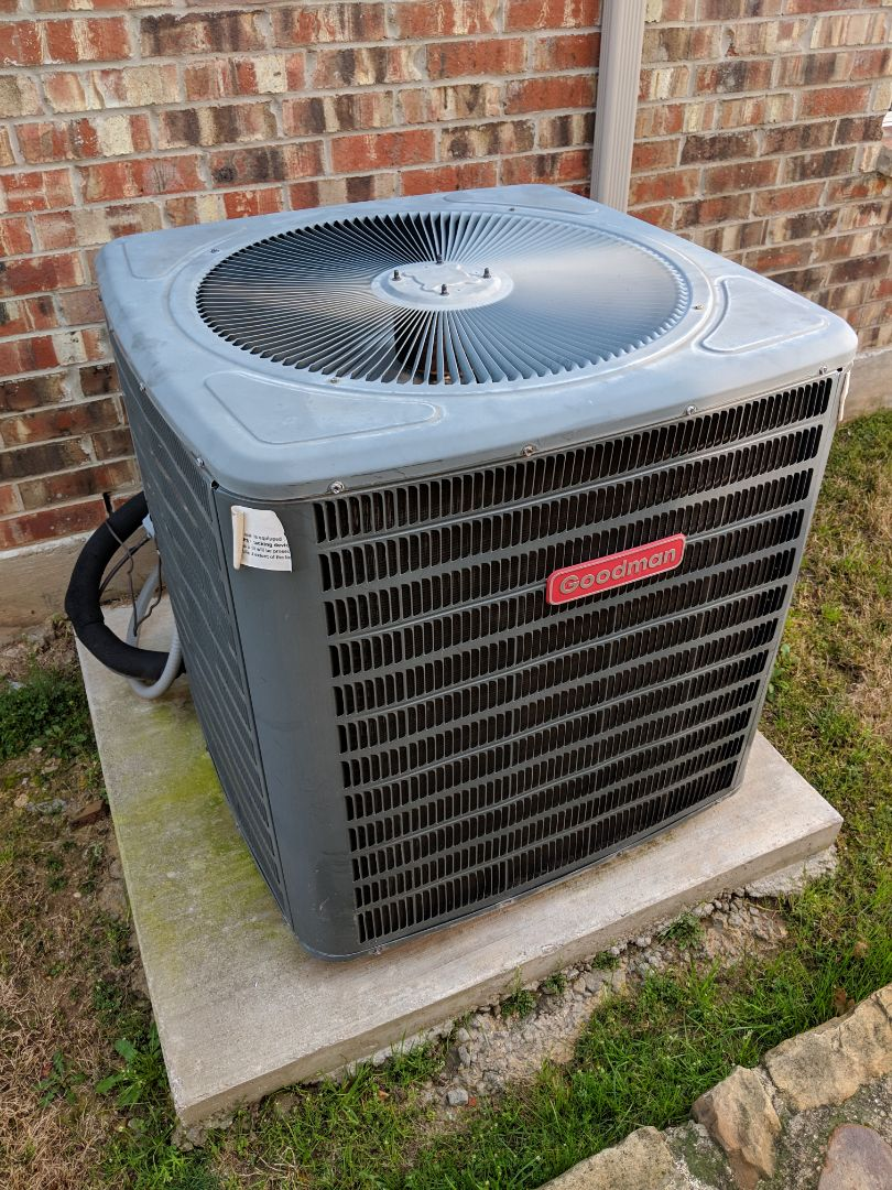 DeSoto, TX - Heating inspection. Performed gas furnace maintenance and repair on Goodman system.