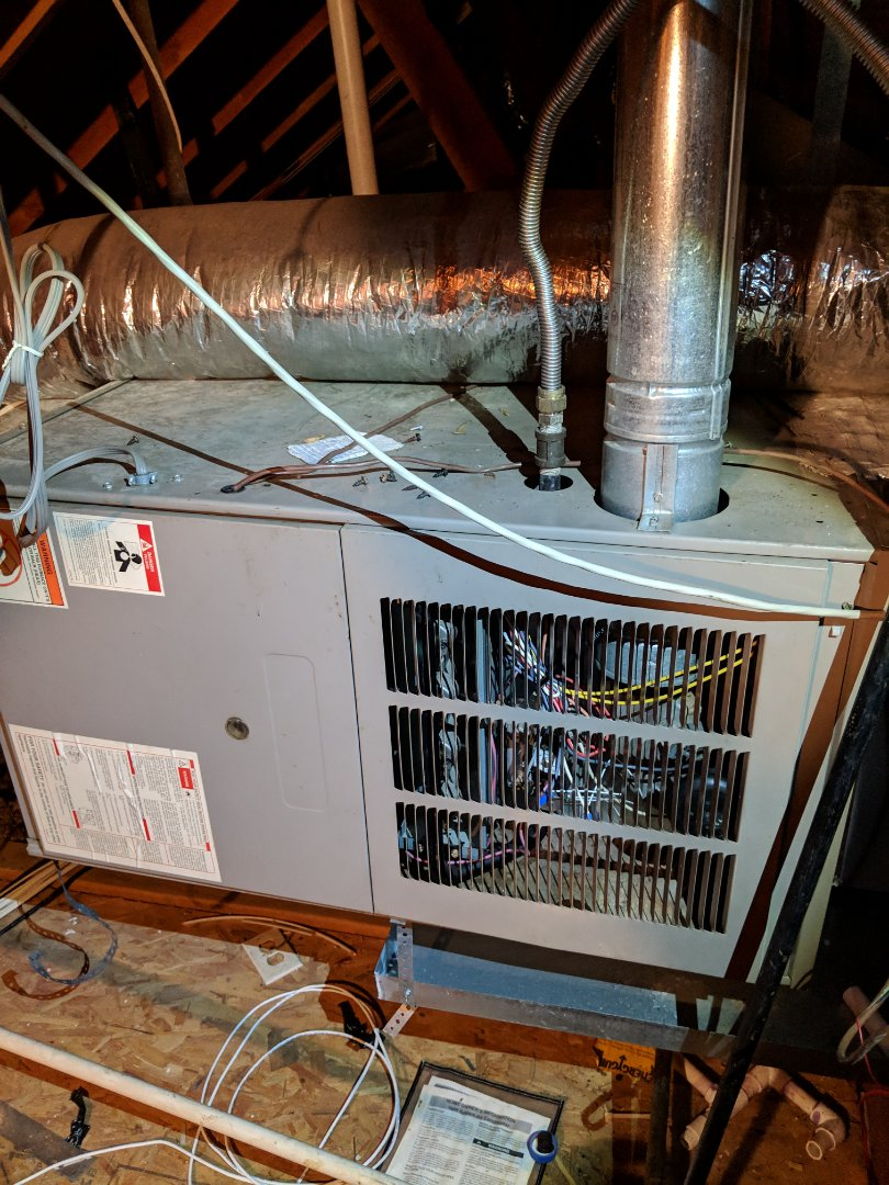 Lancaster, TX - Heating inspection.  Performed seasonal heater maintenance on Goodman gas furnace.