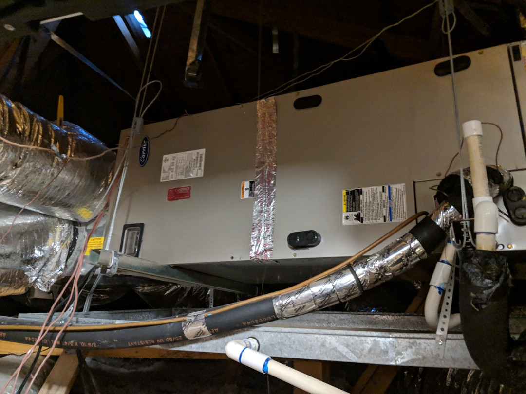 Dallas, TX - Heating inspection.  Performed yearly heater maintenance, service, and repair on Carrier electric furnace.