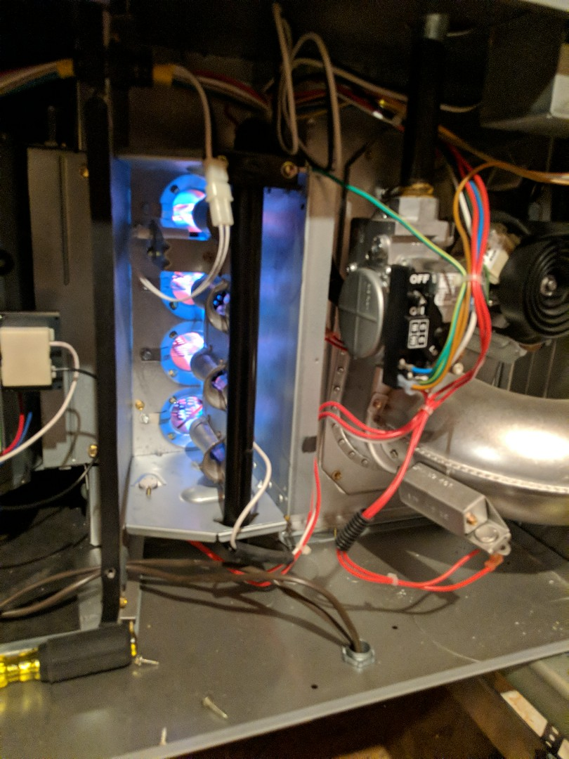 DeSoto, TX - Heater maintenance.  Performed heating checkup and repair on gas furnace system.