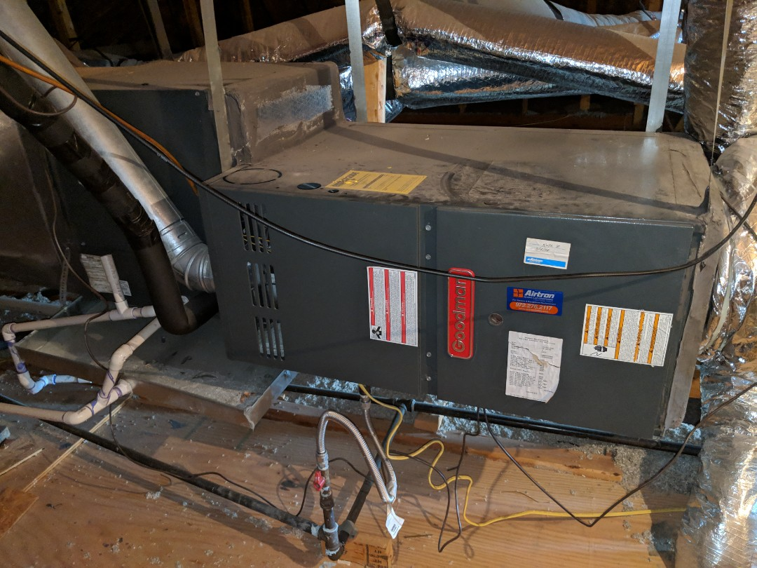 Cedar Hill, TX - Heat service.  Performed heating diagnostic and repair on gas furnace system.