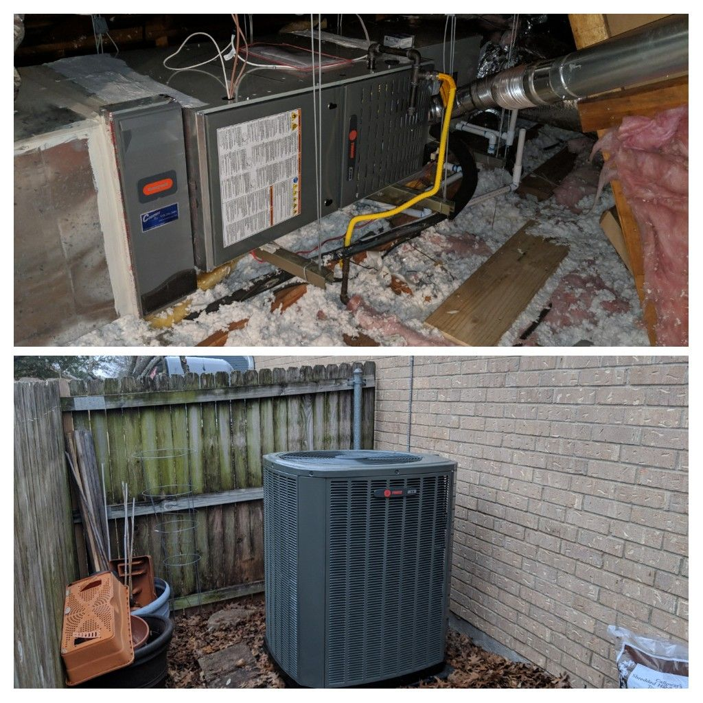 Duncanville, TX - Heating and air conditioning system replacement. Replaced and retrofit new high efficiency AC and gas heat system.