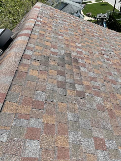 Downers Grove, IL - wind damage   50 year shingles   roof repair    roof repairs   50 year laminated shingles.  Storm damage