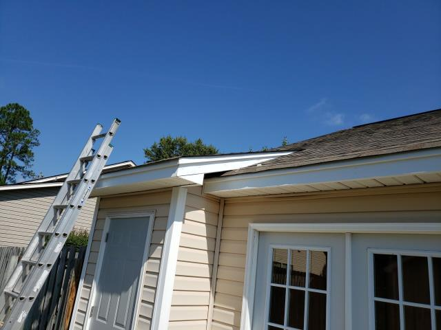 Columbia, SC - Repair pipe boot and damaged fascia board. Fabricate and install new fascia metal on roof in Columbia SC