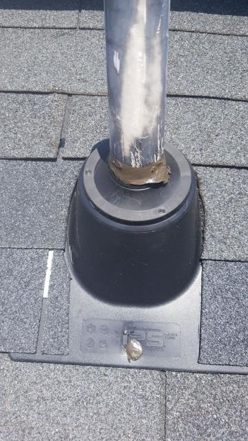 Irmo, SC - inside ceiling and sheet rock was leaking inside of a residential bedroom home. crawled into the attic and he thought it was caused by a pipe boot. replace both pipe boots