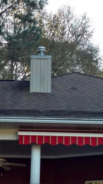 Hollywood, SC - Residential roofing repair chimney reflash