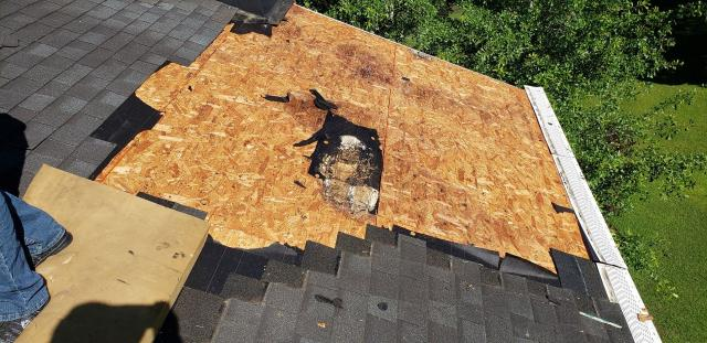 Columbia, SC - Residential roof repair replaced rotted roof decking