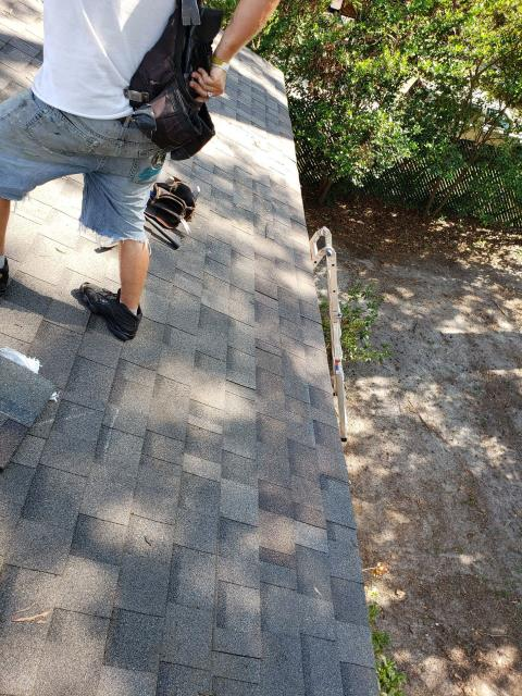 Columbia, SC - Storm damage repairs. Remove and replace multiple shingles on a home.