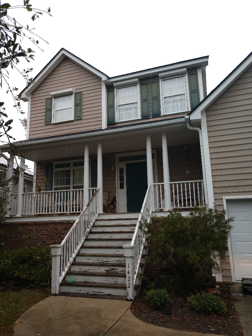 Charleston, SC - Front porch painting and replacement of rotted wood Wexford sound