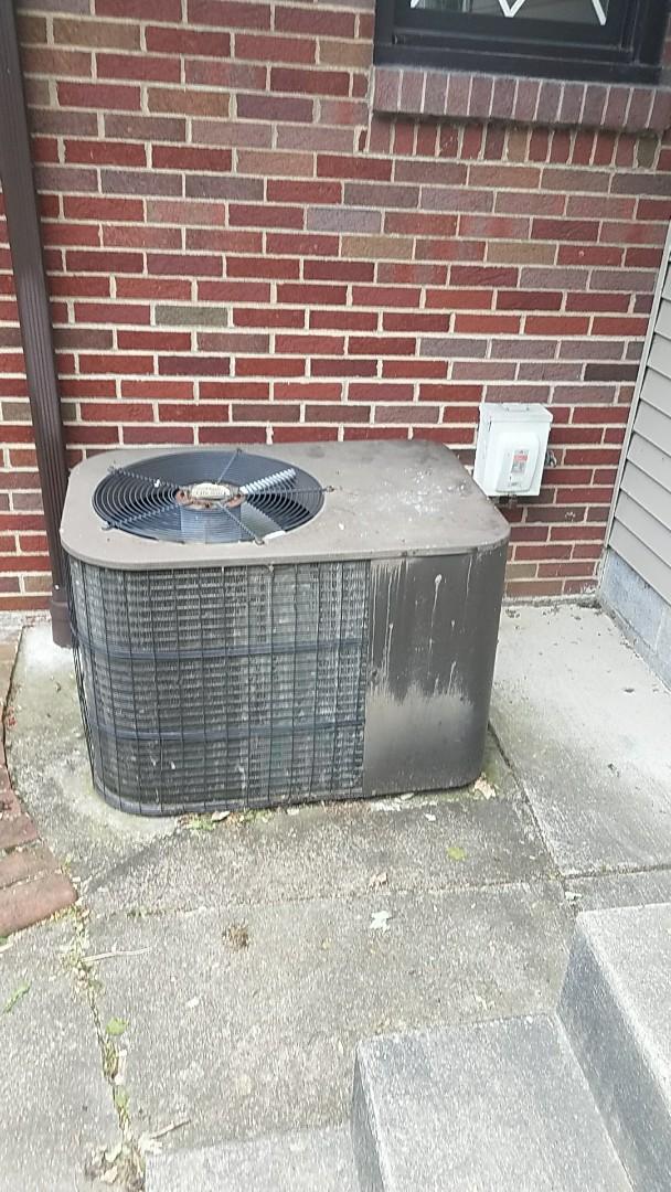Working on an Armstrong a/c unit that's not cooling the house.