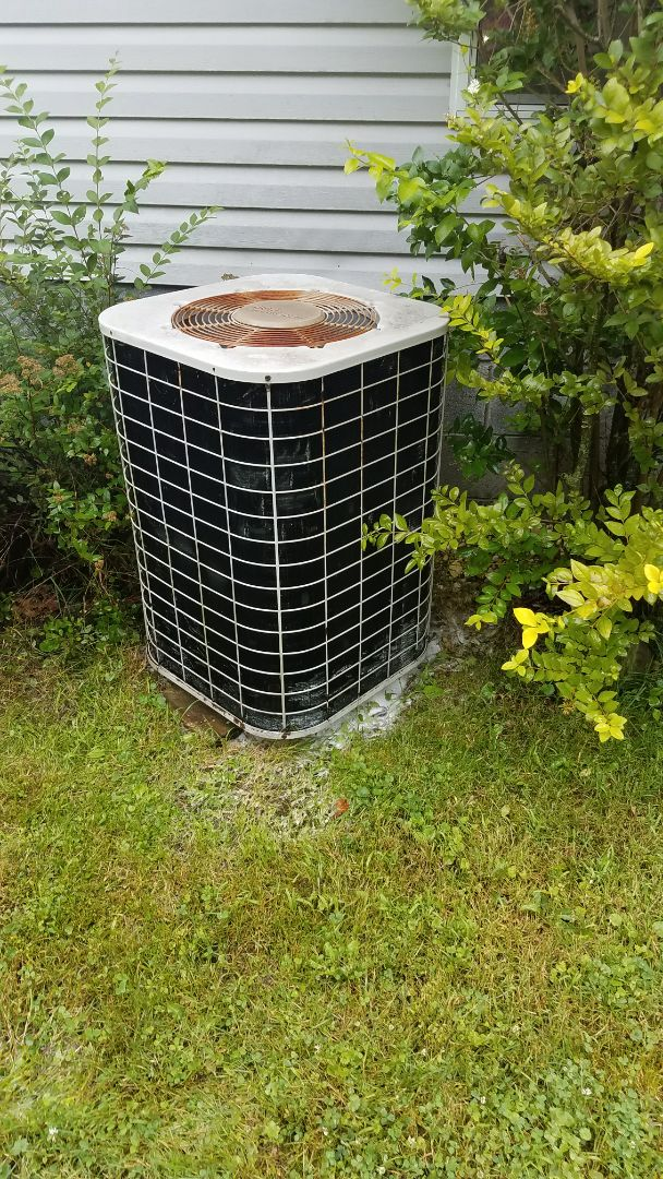 Working on a mobile home / modular home central a.c. system in Ravenna Ohio 44266. The a coil was leaking water when the air conditioner was running.