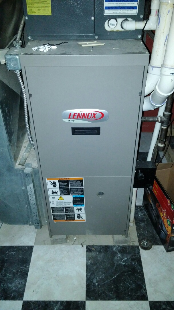 Ravenna, OH - Replacing a control board and flame sensor on a lennox natural gas upflow furnace