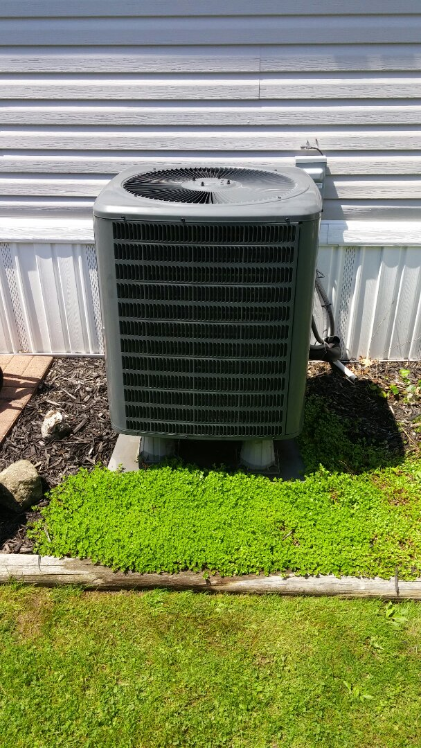 3 year old Amana heat pump and an exam to check unit for summer